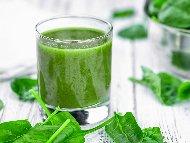 Зелено здравословно смути със, спанак, краставица и пъпеш